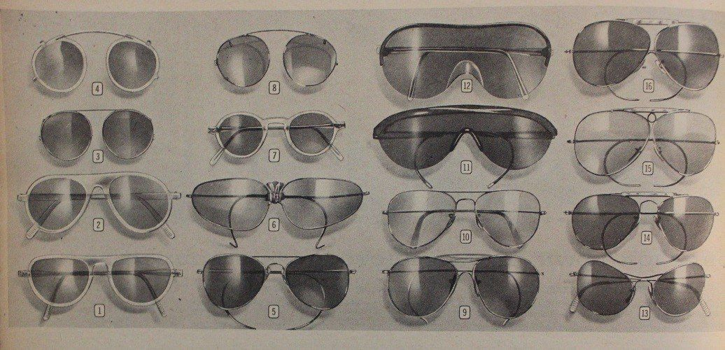 1940 gafas Willsonite, Ray-ban, Polaroid brands